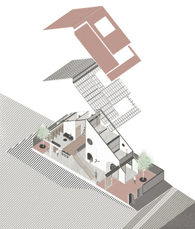 Kinh doanh - Biệt thự mái ngói ở TP.HCM gợi ý kiến trúc mới mẻ cho những căn nhà phố - 19